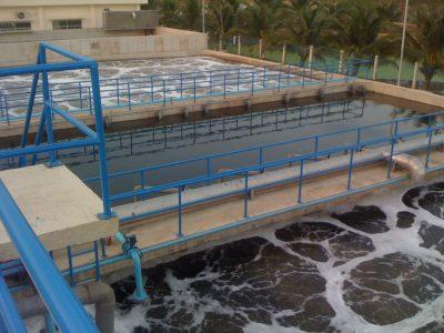 nước thải chưa được xử lí