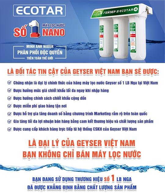 Đại lý máy lọc nước Geyser Việt Nam