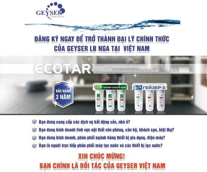 Đăng ký làm đại lý Geyser Việt Nam
