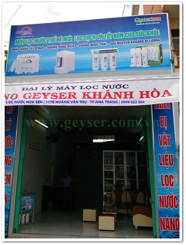 Showroom máy lọc nước geyser tại Khánh Hòa