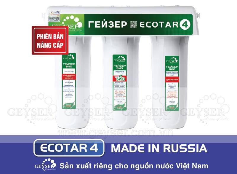 Máy lọc nước Geyser Ecotar 4 model mới