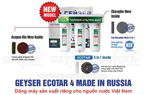 Máy lọc nước Geyser sản xuất cho nguồn nước Việt Nam