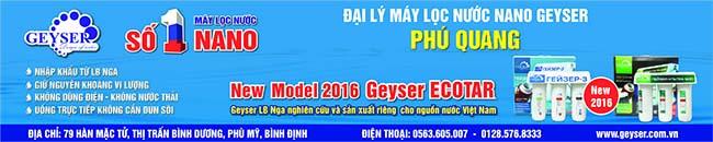 Đại lý máy lọc nước nano Geyser Bình Định