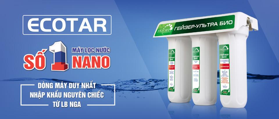 Máy lọc nước nano Ecotar nhập khẩu nguyên chiếc tại LB Nga