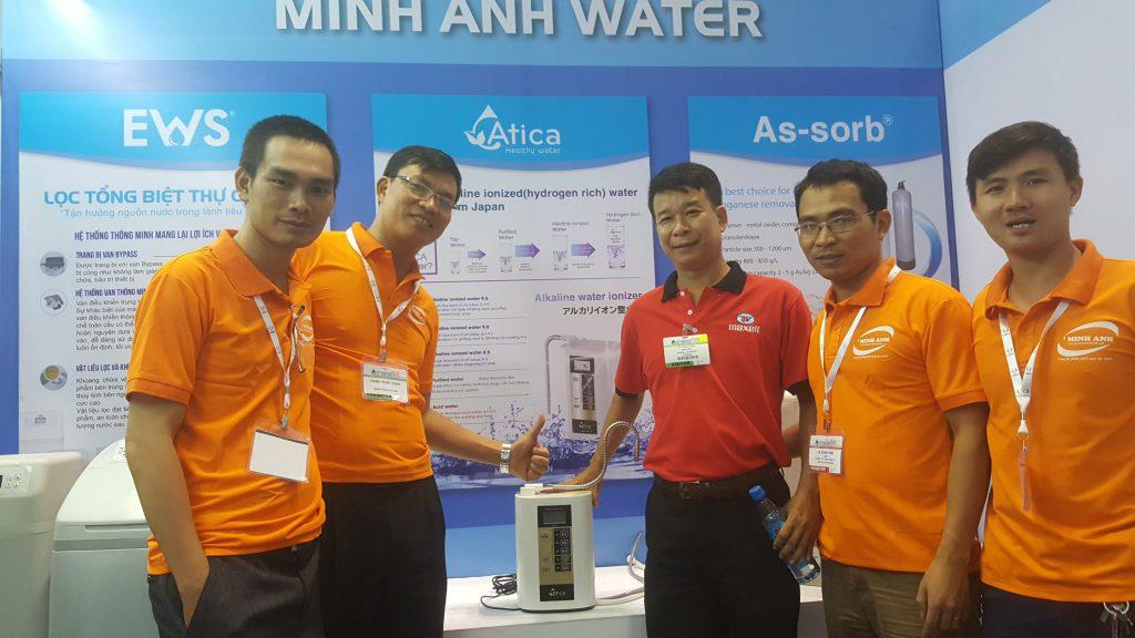 May loc nuoc ion kiem giau hydro atica Minh Anh water gioi thieu tai vietwater