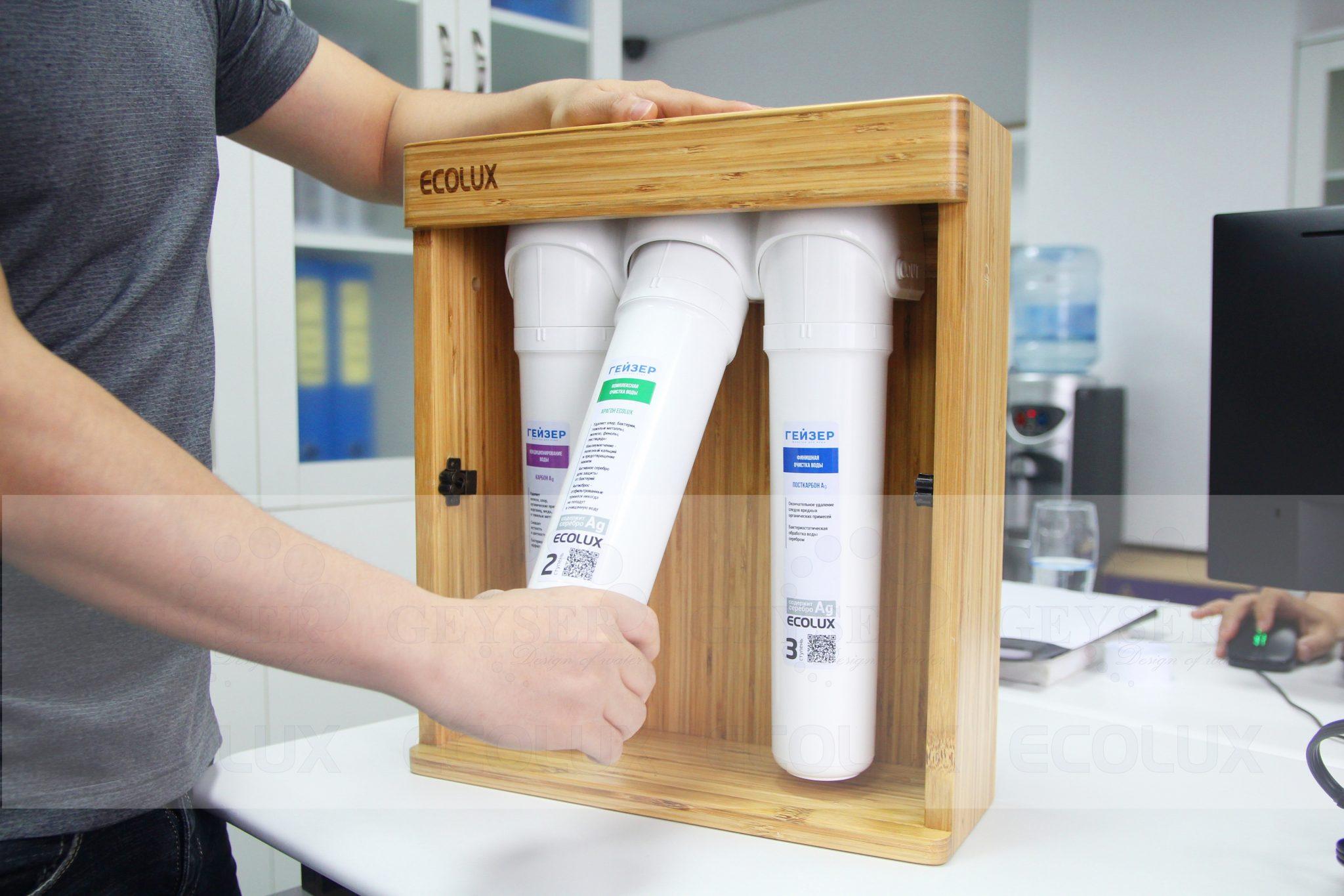 Lõi lọc máy lọc nước nano Geyser Ecolux được cấu tạo nguyên khối an toàn khi vận chuyển