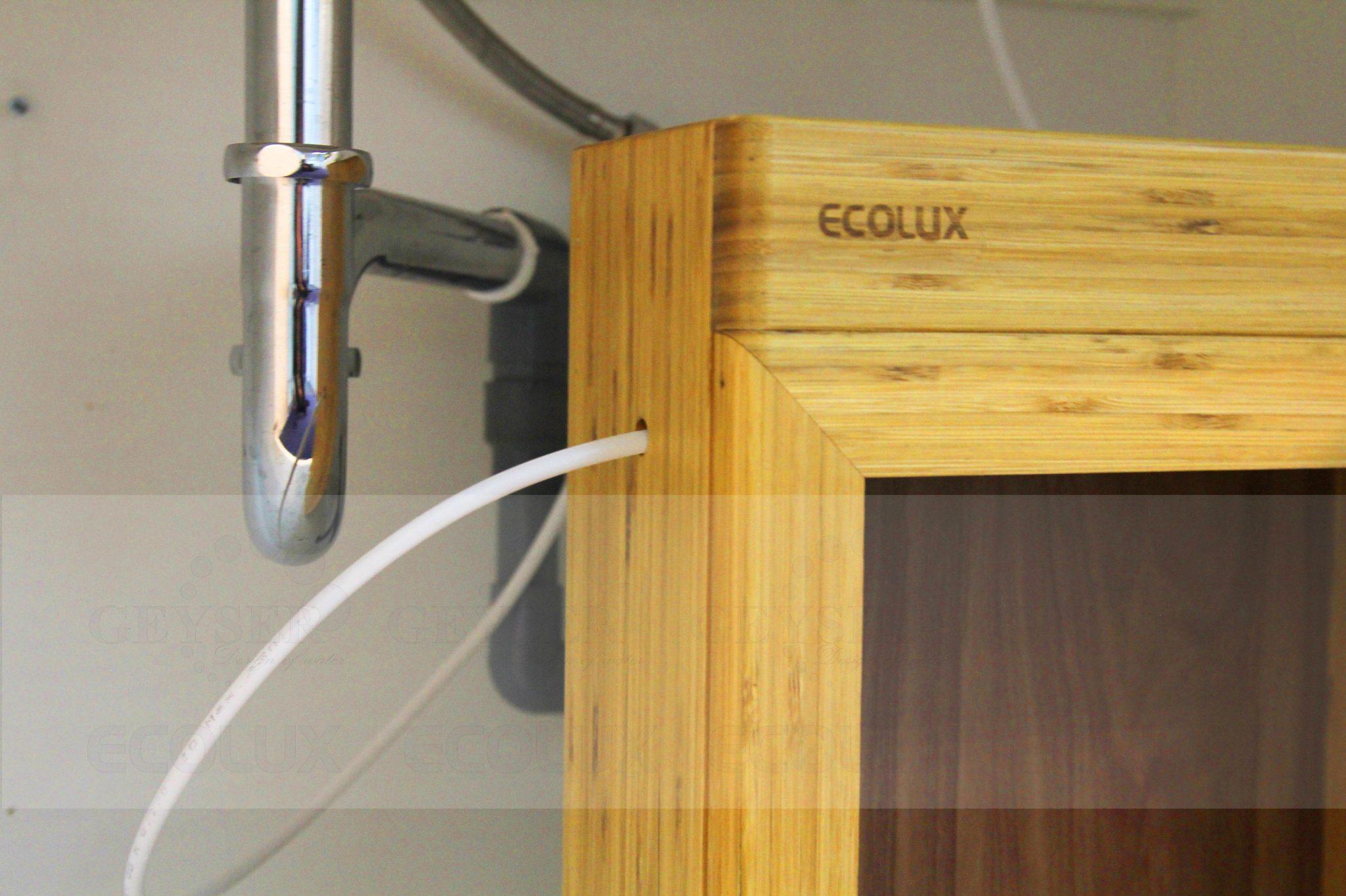 Dây đầu vào và đầu ra của máy lọc nước nano Geyser Ecolux