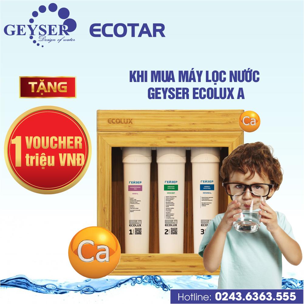 Chương trình khuyến mãi đặc biệt Geyser Ecolux