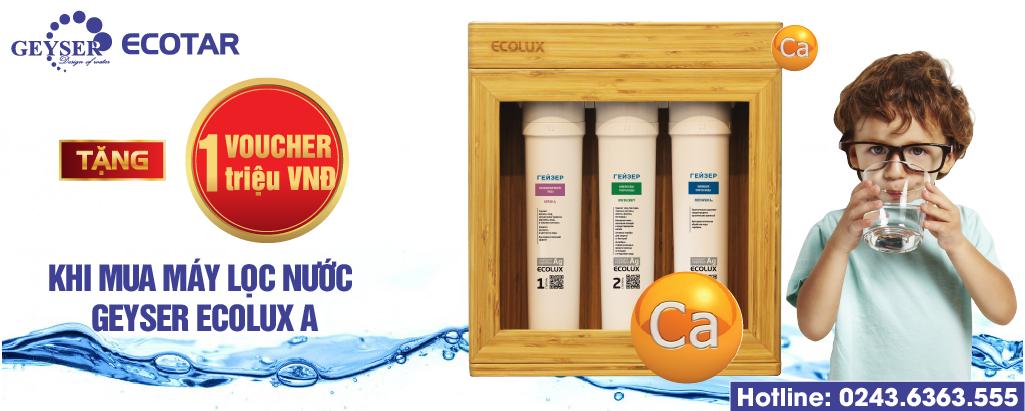 Khuyến mãi máy lọc nước Geyser Ecolux