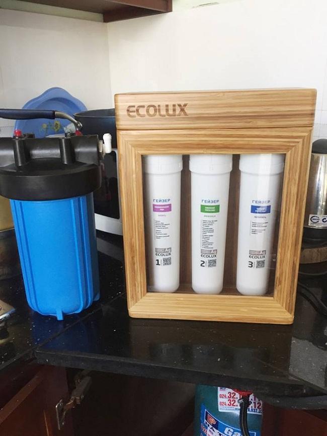 Sử dụng máy lọc nước nano Geyser Ecolux