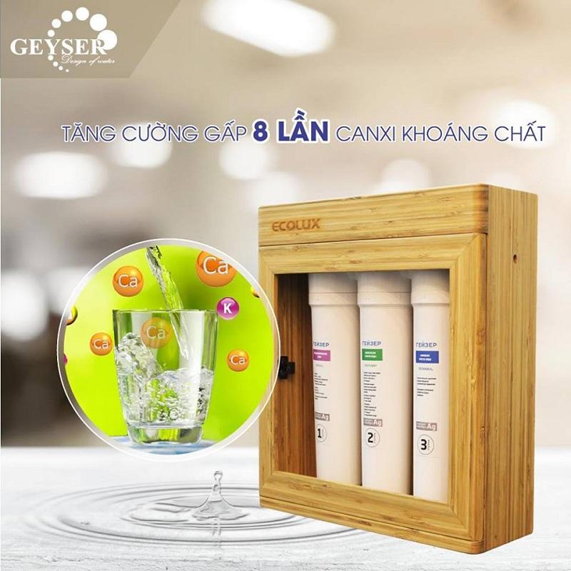 Geyser Ecolux cung cấp nước sạch