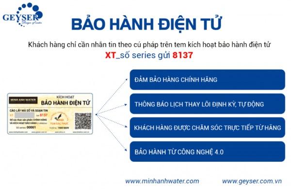Bảo hành điện tử máy lọc nước Geyser - Geyser Việt Nam