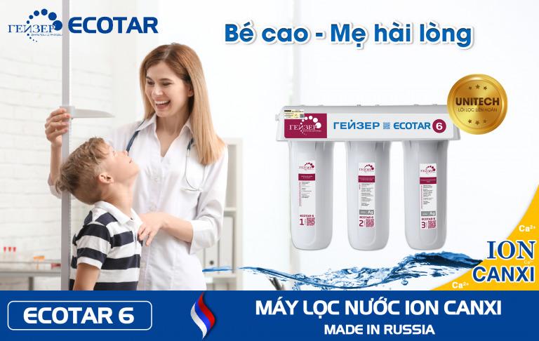 Em bé tăng chiều cao vì uống nước ion canxi