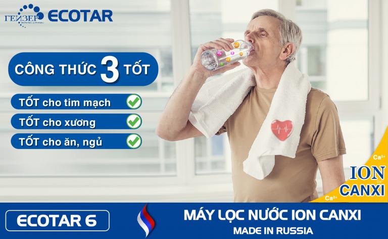 Nước Ion canxi hỗ trợ ngăn chặn loãng xương, tim mạch