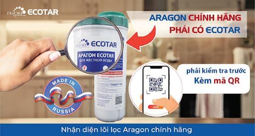 Cách nhận biết lõi lọc Aragon chính hãng - Geyser Việt Nam