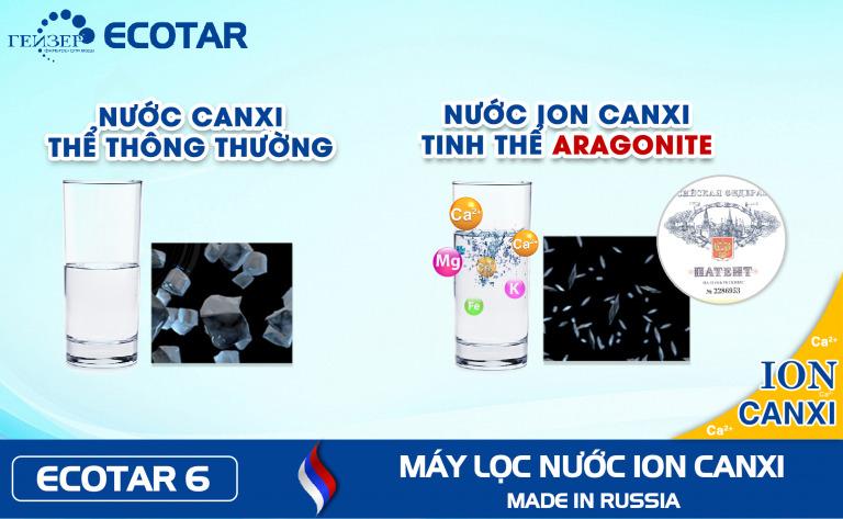 So sánh Canxi dạng thông thường và Ioncanxi dạng Aragonite