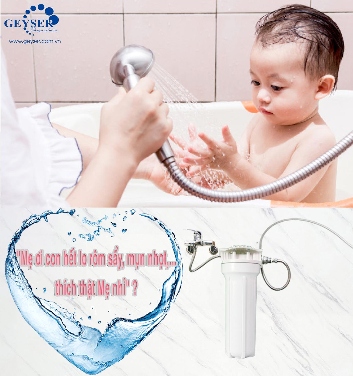 Loại bỏ tạp chất nước tắm