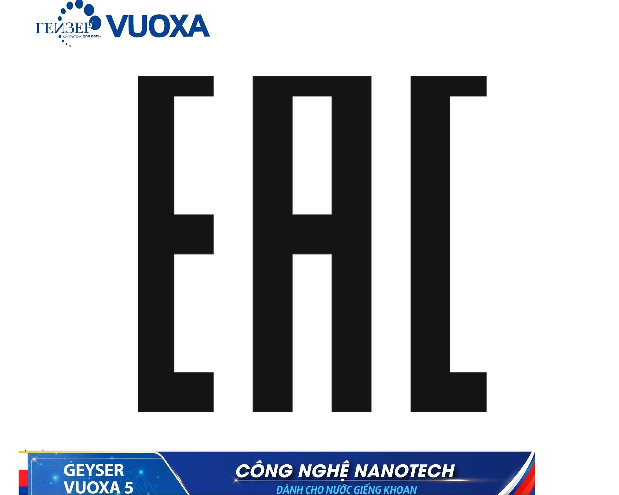 Geyser Vuoxa 5 đạt tiêu chuẩn châu âu EAC