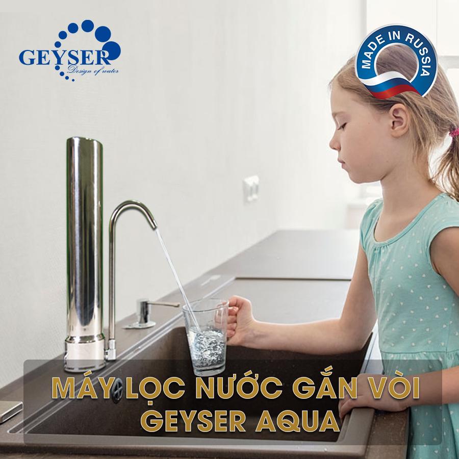 Máy lọc nước gắn vòi Geyser Aqua chính hãng