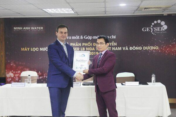 Geyser Việt Nam phân phối chính hãng máy lọc nước Geyser