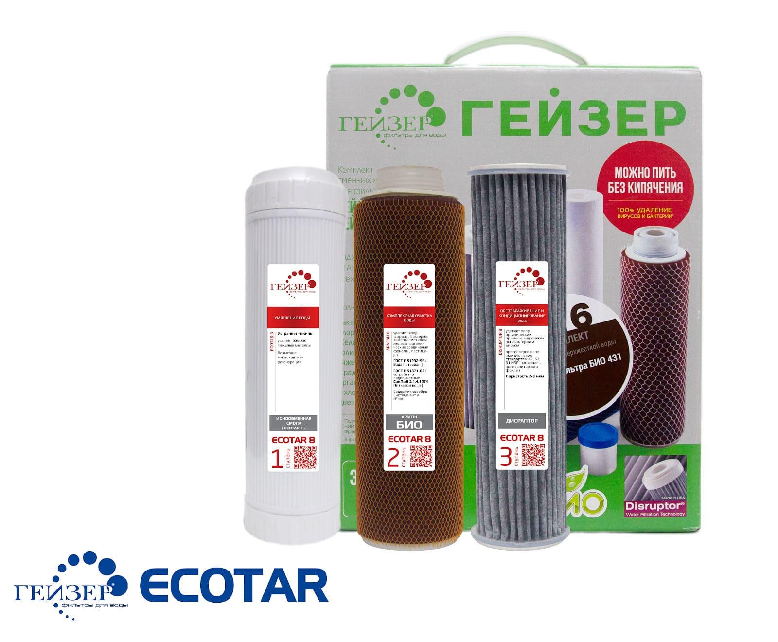 Bộ lõi lọc UniTECH máy lọc nước Ion canxi Geyser Ecotar 8