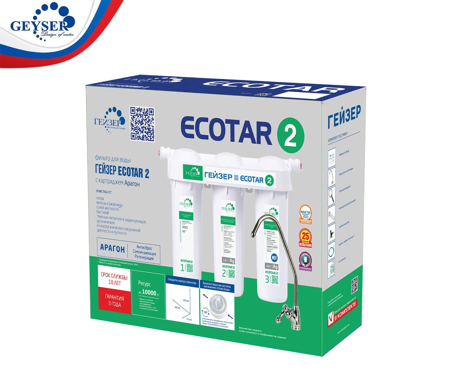 Vỏ hộp máy lọc nước Geyser Ecotar 2 chính hãng