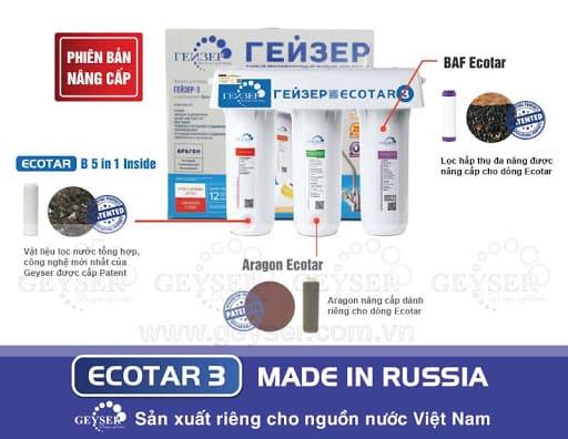 Hệ thống 3 lõi lọc Geyser Ecotar 3