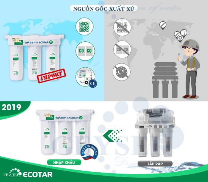 Geyser Ecotar thay thế dòng máy lọc nước Geyser lắp ráp trước đây