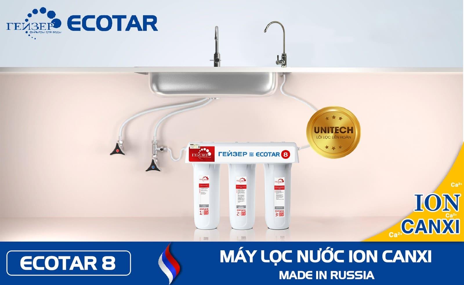 Sơ đồ lắp đặt máy lọc nước thông minh Geyser Ecotar 8 - Geyser Việt Nam