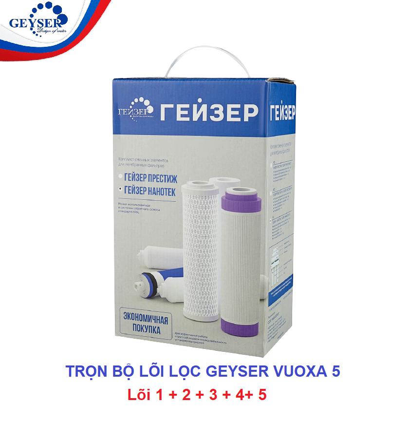Bộ 5 lõi lọc nhập khẩu châu Âu thay thế cho Geyser Vuoxa 5