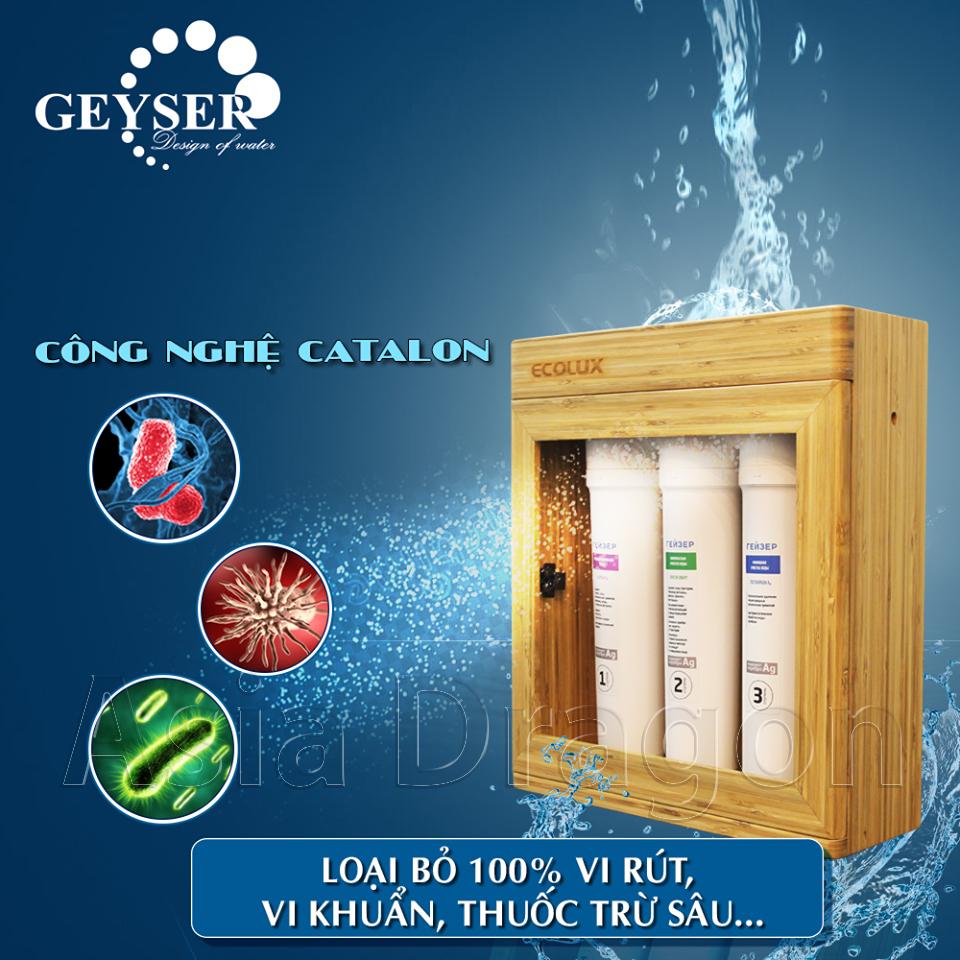 Công nghệ catalux của máy lọc nước Geyser Ecolux